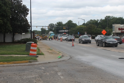 York County drivers can likely expect to see construction on Cherry Road in Rock Hill continue until the end of November (photo: Shaniah Garrick).