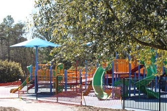 The all-inclusive playground will open Feb. 7 at the Trailhead Park in Tega Cay, which also features three miles of walking trails (photo: Ashley Holbert).