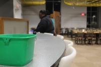 After meals, Thomson Dining Hall staff must wipe down all surfaces to ensure the cafe is clean (photo: Matthew Shealy).