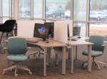 There are a number computer workstations at the new Anne Springs Close Learning Commons at York Technical College (photo: Tarik Beaulieu).
