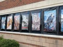 """Tenet,"" ""Unhinged,"" ""The New Mutants"" and ""Words on the Bathroom Wall"" were some of the new release movies playing at Regal Manchester in Rock Hill, S.C. when it opened Aug. 28 (photo: Jendaya Fleming)."