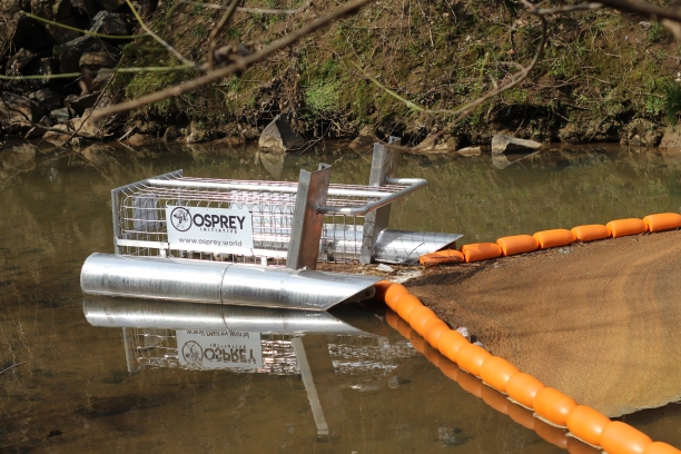 The Catawba Riverkeeper has installed devices called Litter Gitters across the river basin that collects trash in moving water (photo: Kevin Seabrook).