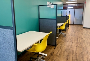 The new Gravity Center building in Rock Hill features small office spaces that are available on the second level for business leaders to rent (photo: JaKayla Cornish).