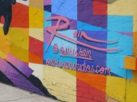 Osiris Rain, founder of Osiris Rain Studios and the North Carolina Academy of Art, was the first artist to create a mural for the Rock Hill Mural Mile. His mural is located on the side of the Dust Off Brewing Co. at 130 W. White St. in Rock Hill (photo: Christian Smith).