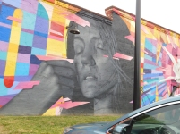 A previously blank wall outside of the Dust Off Brewing Co., at 130 W. White St. in Rock Hill, is now adorned with the work of Osiris Rain, an internationally recognized street artist, who was commissioned for the Rock Hill Mural Mile (photo: Christian Smith).